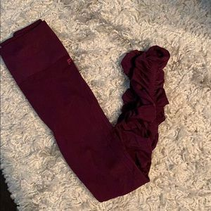 Fabletics leggings maroon
